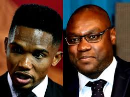 you are in my humble judgment the best African player in history Patrick Mboma tells Samuel Eto'o