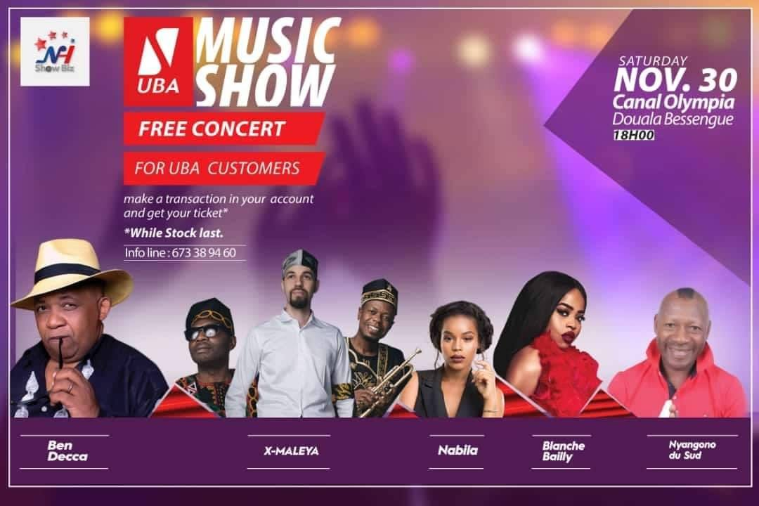 UBA Cameroon Organizes a free concert for their clients