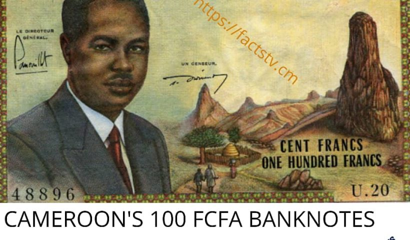 Cameroon's 1OOFCFA banknotes sells at 70,00 € (45917.00 CFA) in Europe