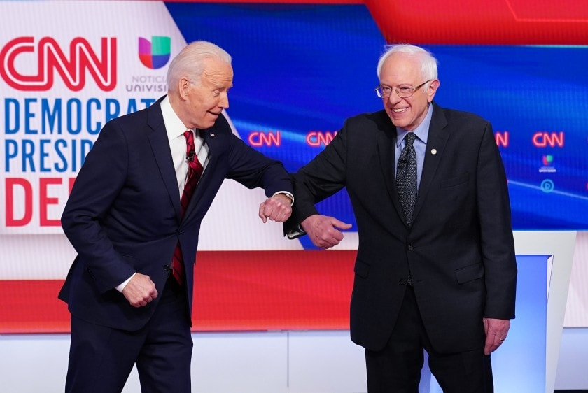 Joe Biden and Bernie Sanders criticized President Trump's handling of the coronavirus outbreak during the Democratic debate