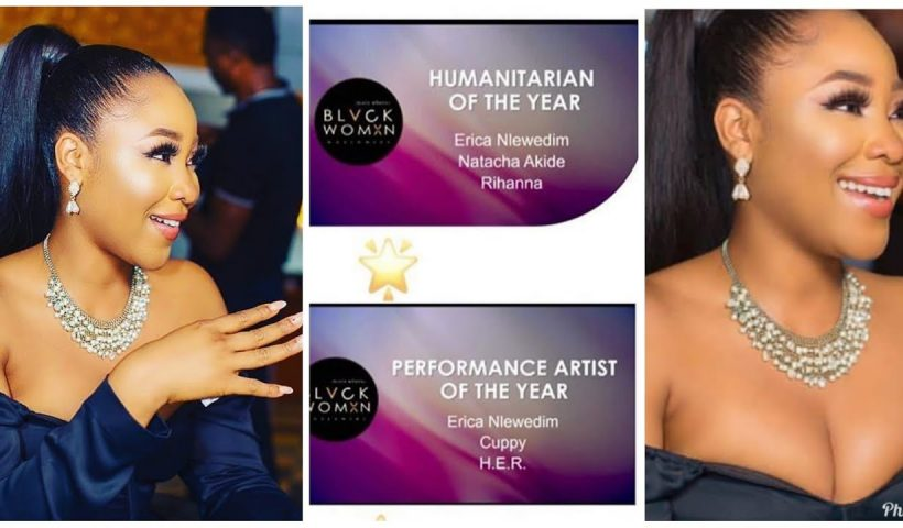 BBNaija 2020: Erica Wins 2 International Awards, Beats Rihana