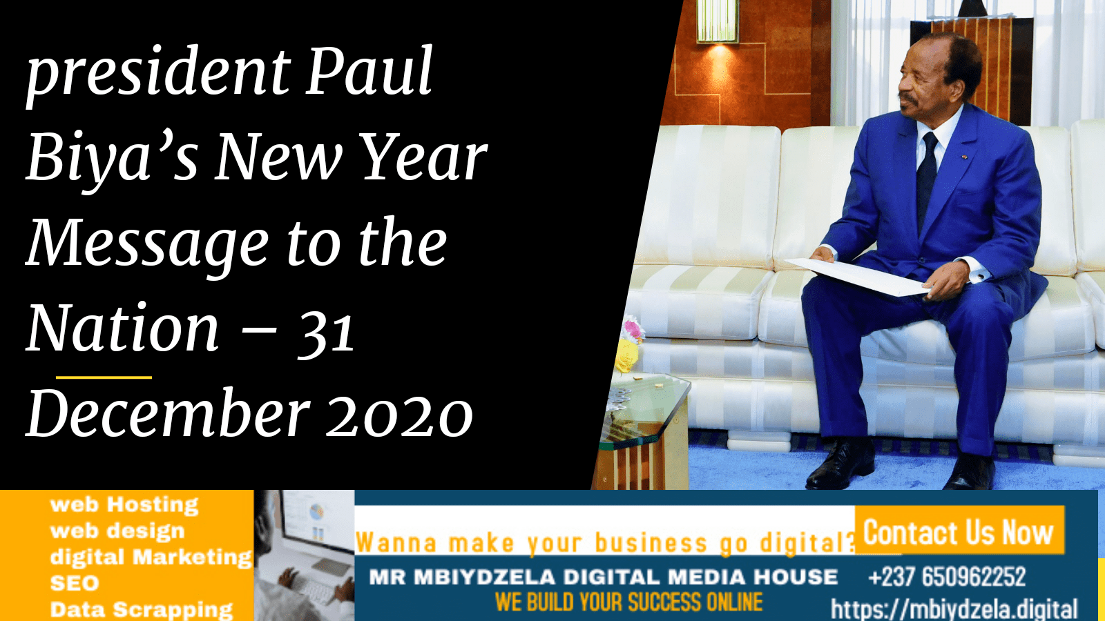 President Paul Biya's New Year Message to the Nation – 31 December 2020