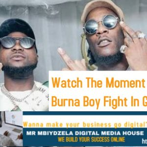 Watch The Moment Davido And Burna Boy Fight In Ghana