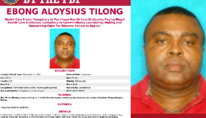 The FBI is offers $10,000 for information leading to the location and arrest of Cameroonian scammer fugitive Ebong Aloysius Tilong
