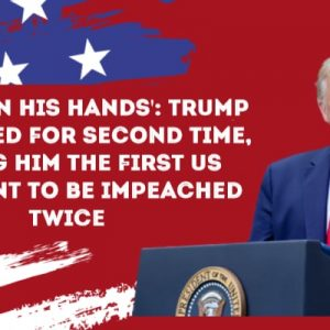 'Blood on his hands': Trump impeached for second time