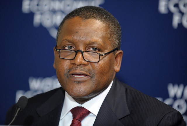 African richest man Aliko Dangote Loses $900 Million In 24 Hours