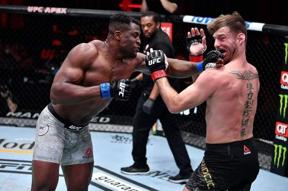 Global Reactions as Francis Ngannou knocks Stripe Miocic to become #ufc260 Heavy weight Champion